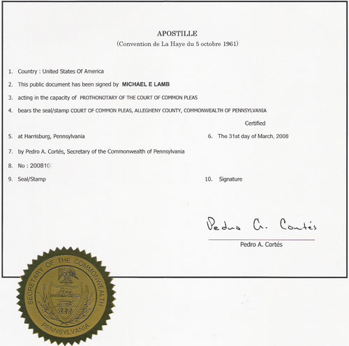 Divorce Certificate Apostille Example  Example Of Divorce Papers